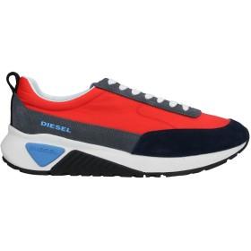 《セール開催中》DIESEL メンズ スニーカー&テニスシューズ(ローカット) レッド 40.5 牛革 / ナイロン