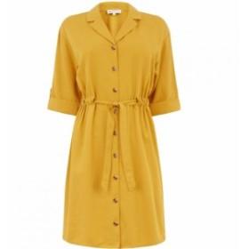 ウェアハウス Warehouse レディース ワンピース シャツワンピース ワンピース・ドレス Lapel Collar Mini Shirt Dress Mustard