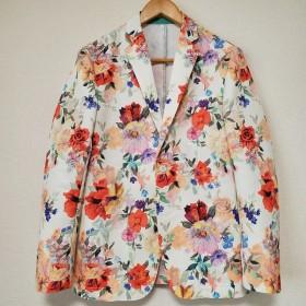 花柄テーラードジャケット M