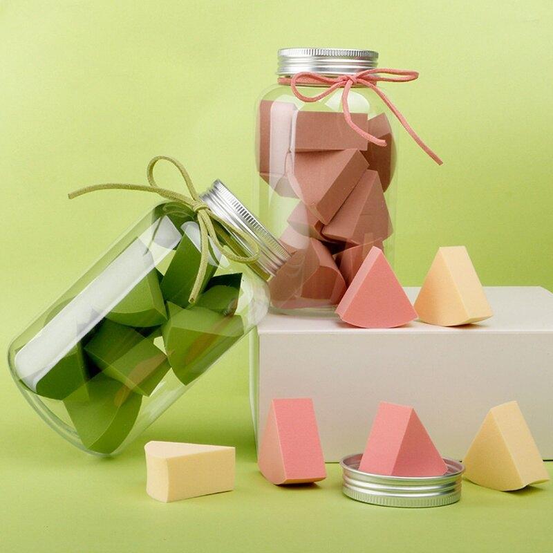 【聖誕饗宴】網紅爆款罐裝三角粉撲★愛麗絲生活購物★M0783