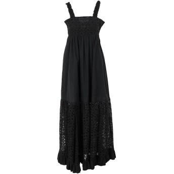 《セール開催中》L' AUTRE CHOSE レディース ロングワンピース&ドレス ブラック 38 コットン 100%