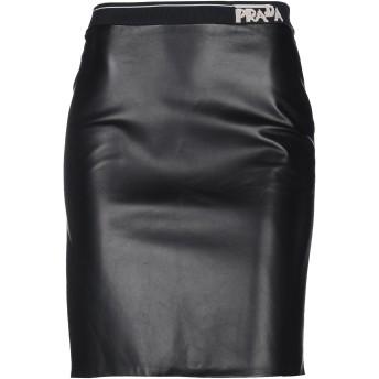 《セール開催中》PRADA レディース ひざ丈スカート ブラック 38 羊革(ラムスキン) 100%