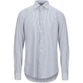 《セール開催中》PAL ZILERI メンズ シャツ ダークブルー 41 コットン 100%