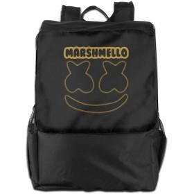 マシュメロ Marshmello バックパック リュック 男女兼用 大容量 多機能 リュックサック 旅行 通勤 通学 PC収納 高耐久性