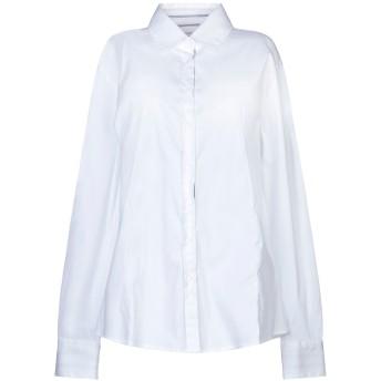 《セール開催中》INSIEME レディース シャツ ホワイト 40 コットン 75% / ナイロン 23% / ポリウレタン 2%