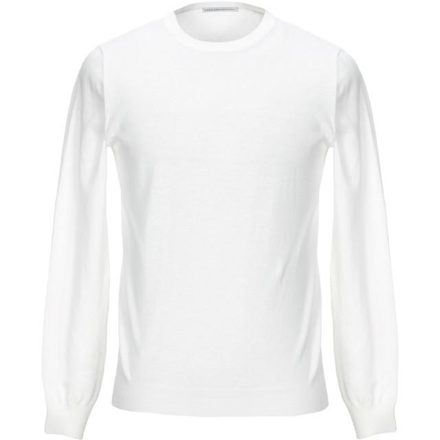 《セール開催中》GREY DANIELE ALESSANDRINI メンズ プルオーバー ホワイト 48 コットン 100%