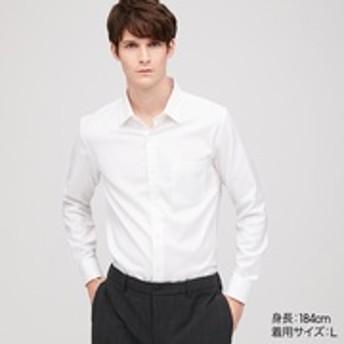 ファインクロスストレッチスリムフィットドビーシャツ(レギュラーカラー・長袖)
