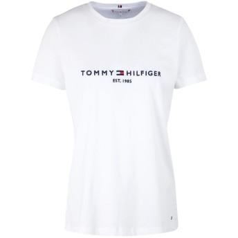 《セール開催中》TOMMY HILFIGER レディース T シャツ ホワイト XS オーガニックコットン 100% NEW TH ESS HILFIGER