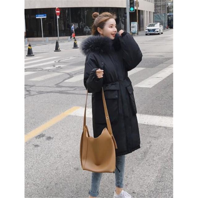 超人気◆ins話題 韓国ファッション 大人気 おしゃれな 新品 気質 トレンド 秋冬物 ダウンコート 大きいサイズ 中・長セクション 綿入れの服