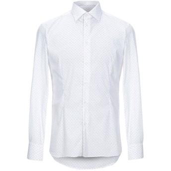 《セール開催中》EREDI DEL DUCA メンズ シャツ ホワイト M コットン 72% / ナイロン 25% / ポリウレタン 3%