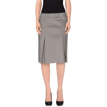 《セール開催中》PESERICO SIGN レディース ひざ丈スカート グレー 46 コットン 96% / ポリウレタン 4%