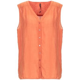 《セール開催中》MANILA GRACE レディース シャツ オレンジ 40 ラミー 100%