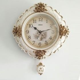 居間の壁掛け時計 欧州のウォールクロックリビングルームミュート家庭大気ウォール・チャートクリエイティブパーソナリティベッドルーム高級時計