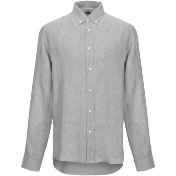 《セール開催中》BRUNELLO CUCINELLI メンズ シャツ ライトグレー XL 麻 100%