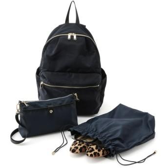 ロペ/【19AW】デイパック&お財布バッグ&巾着ポーチの3点セット/ブラック/F