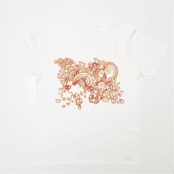 ペンアートTシャツ【ホワイト】