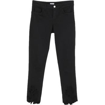 《セール開催中》LIU JO レディース パンツ ブラック 25 コットン 97% / ポリウレタン 3%