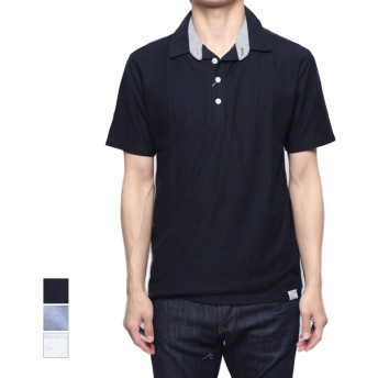 ポロシャツ - Style Block MEN ポロシャツ 半袖シャツ プルオーバー スキッパー 半袖 梨地 格子柄 トップス メンズ サックス オフホワイト ネイビー 夏先行