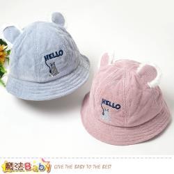 魔法Baby 嬰幼兒帽 秋冬厚款哈囉小熊毛絨耳朵造型帽~g2610a