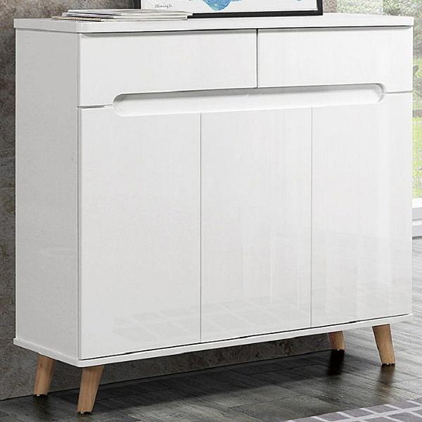 鞋櫃 QW-434-4 羅亞爾3.3尺白色鞋櫃【大眾家居舘】