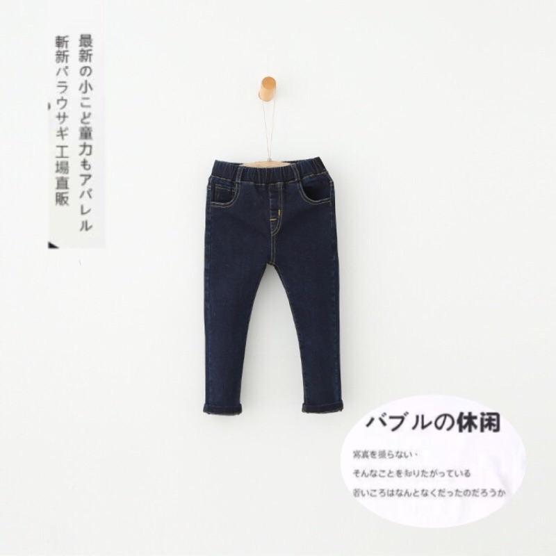 • Vivi 日系童裝• 現貨-彈力修身牛仔鉛筆褲(剩110碼)