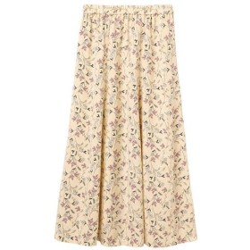 【レディース】 セミフレアロングスカート ■カラー:ベージュ系 ■サイズ:S,M,L,LL,3L