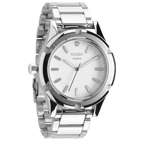 NIXON The CAMDEN 耀星騎士時尚運動腕錶-銀- NXA343100
