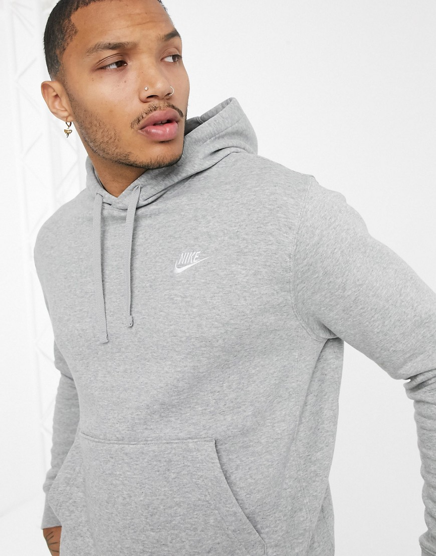 Nike Club hoodie in grey