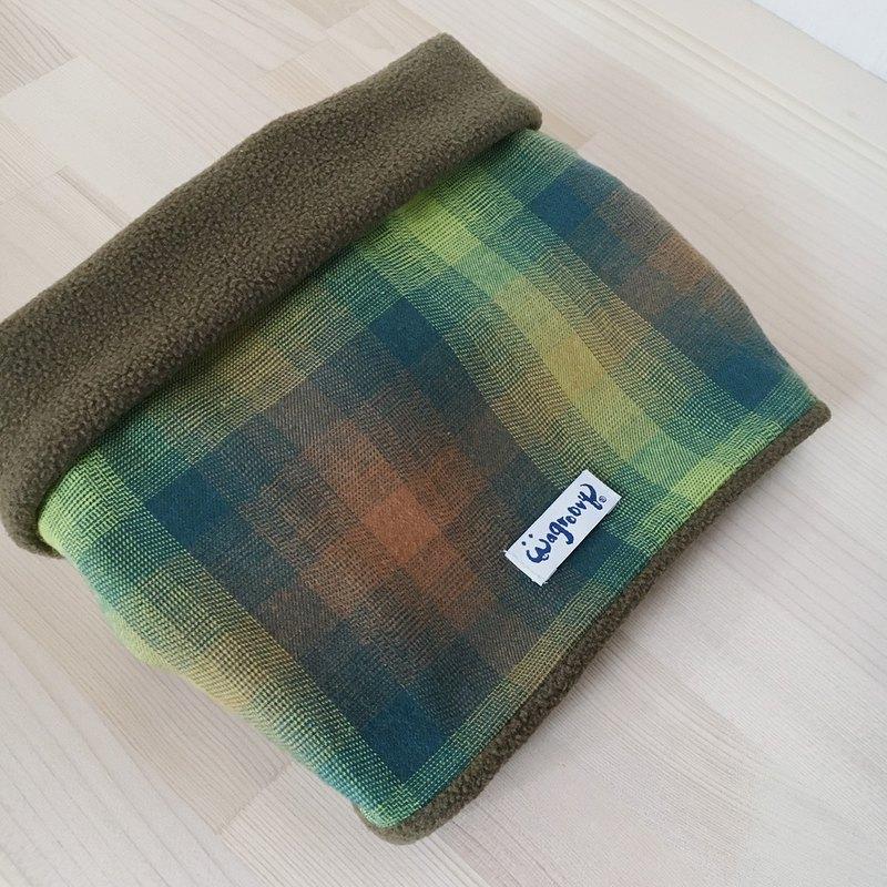 兩用保暖帽套圍脖(橄欖)_材質舒適/方便使用/毛孩寵物保暖