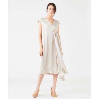 【オンワード】 JOSEPH WOMEN(ジョゼフ ウィメン) CARROL / SILK SATIN ドレス / ワンピース ベージュ 42 レディース 【送料無料】