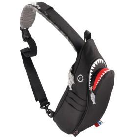 カバンのセレクション モーンクリエイションズ シャークスリングバッグ サメバッグ ワンショルダー 5L MORN CREATIONS SK 129 メンズ レディース キッズ ユニセックス ブラック フリー 【Bag & Luggage SELECTION】