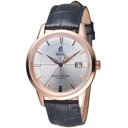 依波路 E.BOREL 復古系列經典致意時尚腕錶  GGR8580-214BK