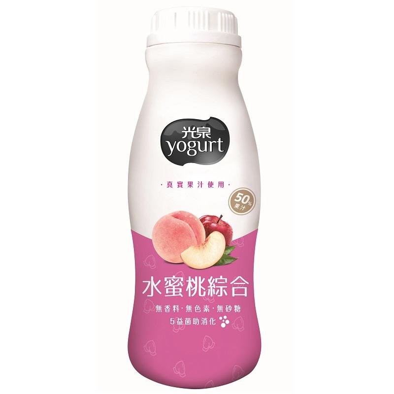 光泉優酪乳-水蜜桃綜合-200ml到貨效期約6-8天