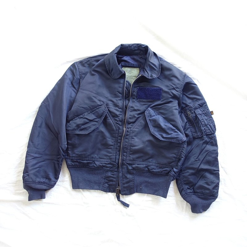 BajuTua /古著/ ALPHA 美軍飛行夾克- CWU-45/P暗藍 (男女皆可)