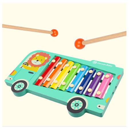 (經典木玩)木製歡樂巴士敲琴玩具(A012)