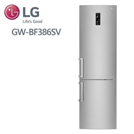 LG 樂金 350公升 直驅變頻上下門冰箱 精緻銀GW-BF386SV