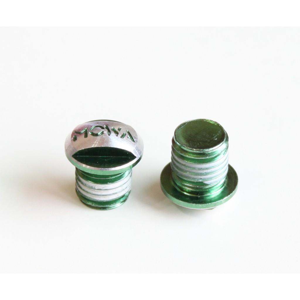 庫存出清:MOWA 6061-T6 M10車架V夾座螺絲 1組(2pcs) 綠色