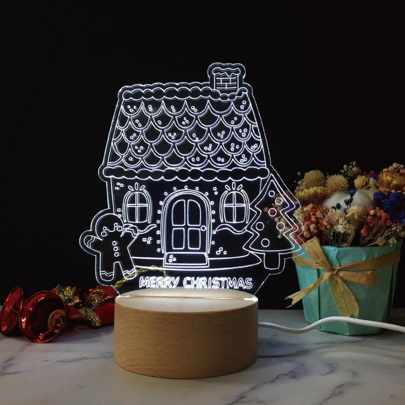 WD 聖誕原木夜燈【薑餅屋】聖誕禮物