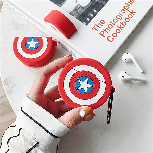 ? Airpods Pro 專用 1/2代 ??台灣發貨 [ 美國隊長盾牌 ] 藍芽耳機保護套 蘋果無線耳機保護
