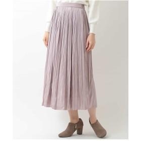 OFUON サテンプリーツスカート その他 スカート,ピンク