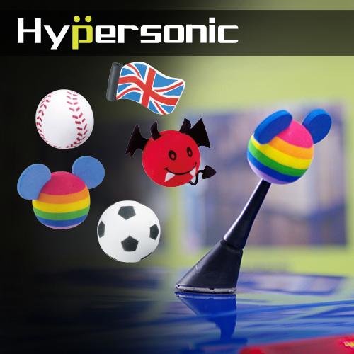 Hypersonic HPN127~132造型天線球(2組入) 天線裝飾球 筆套 小惡魔 小天使 八號球 棒球 足球 英國國旗