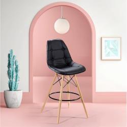 E-home EMSLH北歐經典拉扣吧檯椅 二色可選