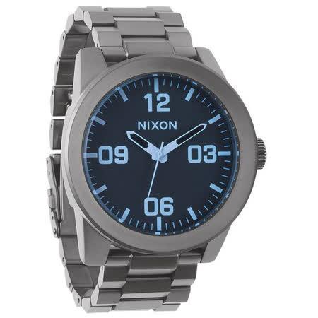 NIXON The CORPORAL SS 曠野風潮時尚運動腕錶(灰藍)-NXA3461427