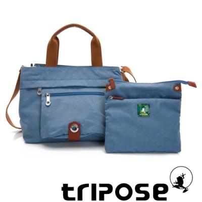 tripose 微旅系列輕旅機能後背斜背包 天空藍