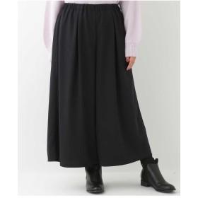 eur3 【大きいサイズ】スカート見えワイドパンツ その他 パンツ,ネイビー