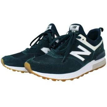 NEW BALANCE 2018AW MS574 スニーカー ジューズ 靴 グリーン、ホワイト サイズ:26.5cm (高槻店) 191123
