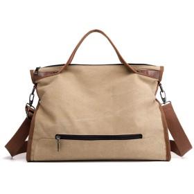 軽量大容量ソリッドカラーのショルダーバッグスタイリッシュなキャンバスを開き女の子ハンドバッグの女性のカジュアルハンドバッグ、Meiyou5 Kkと、(30CM-50CM