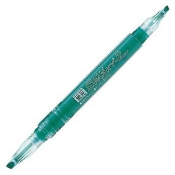 ゼブラ 蛍光ペン スパーキー2 ブルーグリーン 10本 B-WKT3-BG