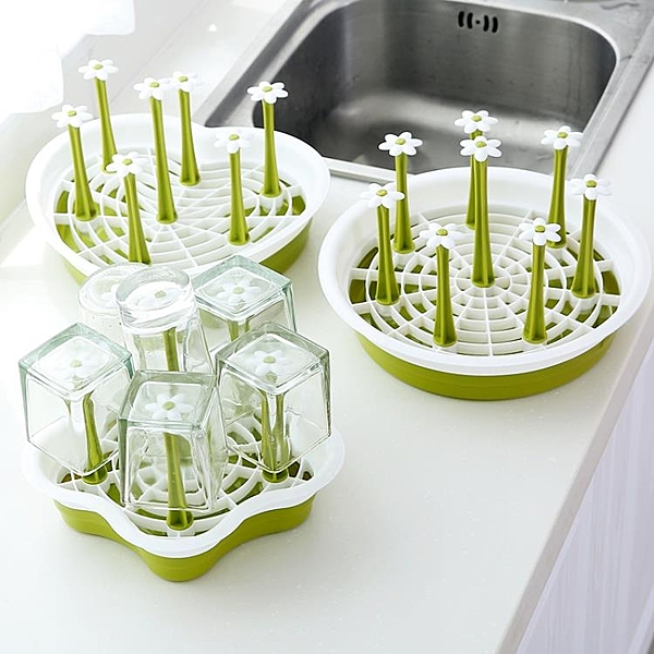 創意水杯杯架家用玻璃茶杯架掛架瀝水置物架帶托 - 風尚3C