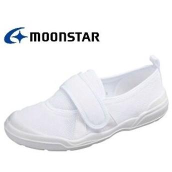 大人の上履き ホワイト 介護 リハビリ 室内履き ムーンスター MOONSTAR|MS02-white